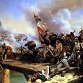 Napoleon Bonaparte Leading His Troops Over The Bridge by MotionAge Designs