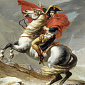 Napoleon Crossing The Alps, Jacques Louis David, From The Original Version Of This Painting  by Thomas Pollart
