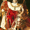 Napoleon I On The Imperial Throne by Ingres