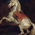 Napoleon's Stallion Tamerlan by Theodore Gericault