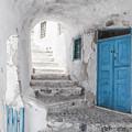 Narrow Alley And Stairway On Santorini by Antony McAulay