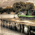 Narrow Boat And Jetty by Vicki Field