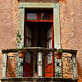 Narrow Red Window by Mexicolors Art Photography