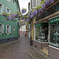 Narrow Street In Freiburg by Robert VanDerWal