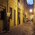 Narrow Street In Old Town Of Wroclaw In Poland by Artur Bogacki