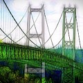 Narrows Bridge Abstract by David Coleman