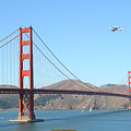 Nasa Space Shuttle's Final Hurrah Over The San Francisco Golden Gate Bridge by Wingsdomain Art and Photography