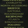 Nascar Track List by Dan Sproul