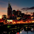 Nashville At Sunset by Mountain Dreams