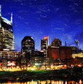 Nashville At Twilight by Dean Wittle