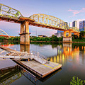 Nashville Pedestrian and Gateway Bridge at Dusk by Gregory Ballos