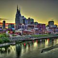 Nashville Resplendent Sunset Cityscape Art by Reid Callaway