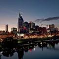 Nashville Skyline And The Cumberland by Everett
