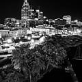 Nashville Skyline And The Cumberland River by Kristen Wilkinson