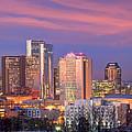 Nashville Skyline At Dusk 2018 Panorama Color by Jon Holiday