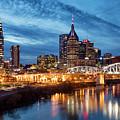Nashville Skyline At Dusk by Brian Jannsen
