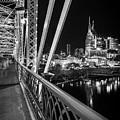 Nashville Skyline From The John Seigenthaler Pedestrian Bridge by Kristen Wilkinson