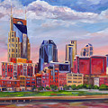 Nashville Skyline Painting by Jeff Pittman