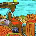 Nassau Fruit Seller At Waterside by Frank Hunter
