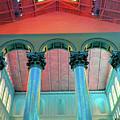 National Columns Blue by Jost Houk