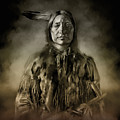 Native American Chief-scabby Bull 2 by Bekim Art