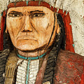 Native American Chief With Pipe by Steven Bateson