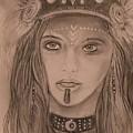 Native American Girl  by Robert Polley