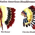 Native American Headdresses by Michael Vigliotti