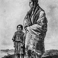 Native American Squaw And Child by Douglas Barnett