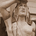 Native American Statue In Toppenish by Carol Groenen