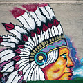 Native American Wall Mural Cheyenne Wyoming by Thomas Woolworth