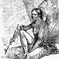 Native American With Pipe by Granger