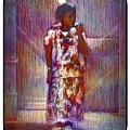 Native American - Young Girl Standing In Doorway by Carlos Frey