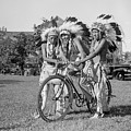 Native Americans With Bicycle by Anthony Murphy