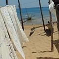 Native Beach Scene by John Potts