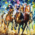 Native Raiser - Palette Knife Oil Painting On Canvas By Leonid Afremov by Leonid Afremov