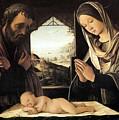 Nativity By Lorenzo Costa by Munir Alawi