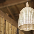 Natural Bamboo Interior Design Lampshade Detail by Jacek Malipan