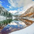 Natures Divine Canvas - Maroon Bells Aspen Colorado by Gregory Ballos