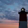 Nauset Light Lighthouse At Sunset by Marianne Campolongo