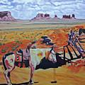 Navajo Ponies by Rich Walter