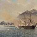 Naval Battle Of The Strait Of Shimonoseki by Jean Baptiste Henri Durand Brager
