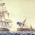 Naval Engagement Between The Uss Frigate Constitution And Hms Frigate Java by Montardier