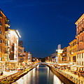 Naviglio Grande Canal Panorama by Songquan Deng