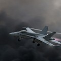 Navy F18 Super Hornet by Dave Clark