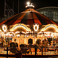 Navy Pier Merry-go-round Chicago Il by Cynthia Woods