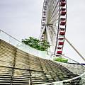 Navy Pier's Old Ferris Wheel by Julie Palencia