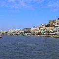 Naxos Greece Harbor by Sally Weigand