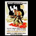 Nazi Allies Anti Soviet Propaganda Poster Circa 1942 Color Added 2016 by David Lee Guss