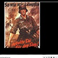Nazi Propaganda Poster Number 2 Circa 1942 by David Lee Guss